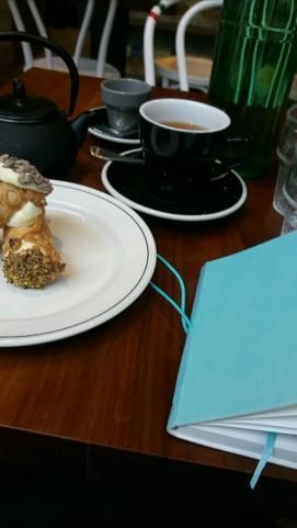 Cannolli and tea in Melbourne CBD