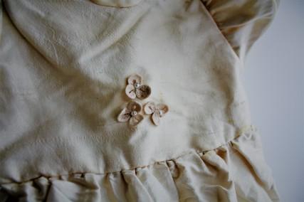 Crocheted detail by my Mum, Shamrocks
