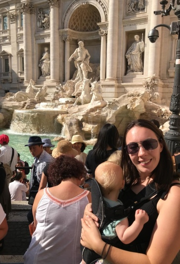 Baby Carrier at Trevi Fountain