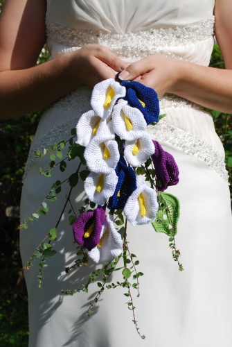 bouquet, crocheted flowers